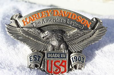 Authentic Harley Davidson American Legend Made in USA Belt Buckle