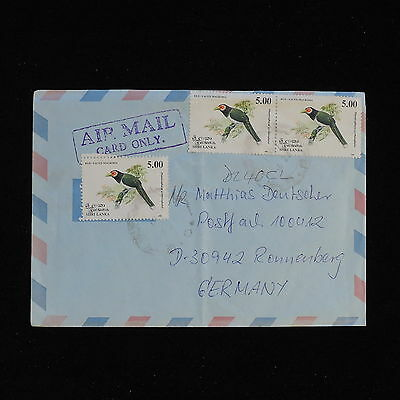 ZS-AC415 SRI LANKA - Birds, Airmail To Ronnenberg Germany Cover