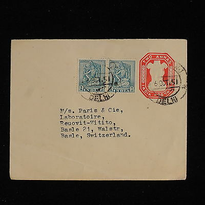 ZS-AC495 INDIA IND - Airmail, 1951 From Delhi To Basel Switzerland Cover