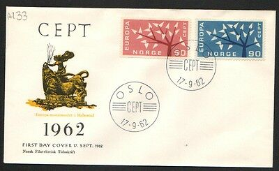 ZS-K078 NORWAY - Europa Cept, Fdc 1963, Trees Cover