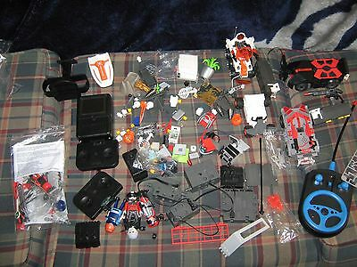 Lot of playmobil agents toy parts including R/C motor and camera/screen