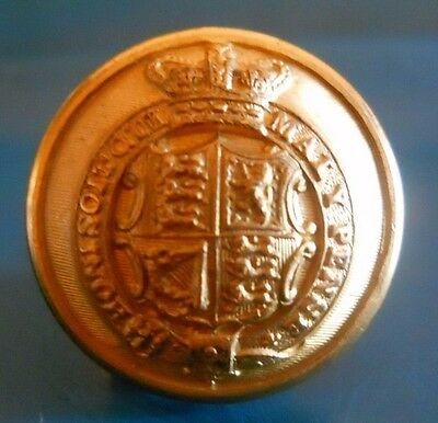 Gilt Button . Imperial Consular Service / Royal Court .qvc.