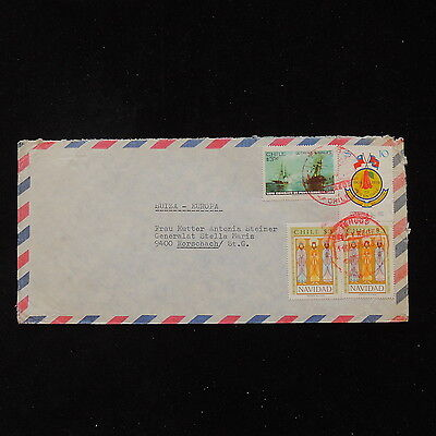 ZS-O014 CHILE - Ships, Christmas Great Franking To Switzerland Cover