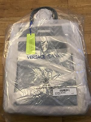 Genuine Versace Jeans Black and Cream Canvas Tote bag