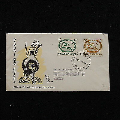 ZS-O355 PAPUA NEW GUINEA IND - Fdc, First South Pacific Games 1963 Cover