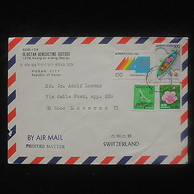 ZS-O746 S. KOREA - Cover, Great Franking Flowers To Switzerland
