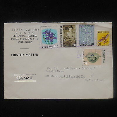 ZS-O751 S. KOREA - Cover, Pusan Great Franking To Switzerland