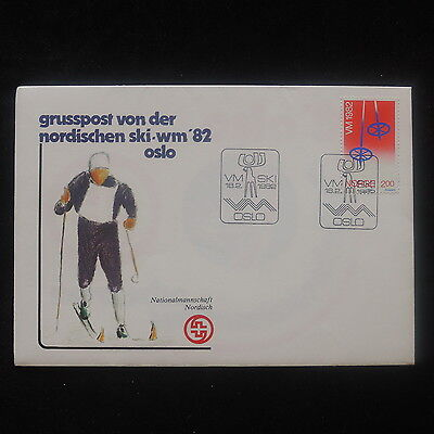 ZS-O755 NORWAY - Cover, World Cup 1982 Oslo Fdc