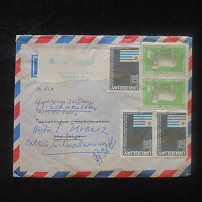 ZS-O952 URUGUAY - Flags, Sheep, Great Franking To Switzerland Cover