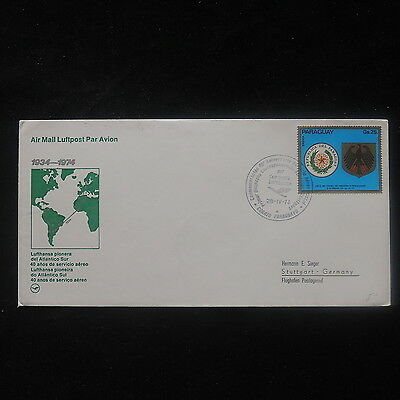 ZS-P049 PARAGUAY - Lufthansa, 1934-1974 Anniversary Of Transoceanic Flight Cover