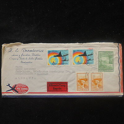 ZS-P062 ARGENTINA - Aviation, 1973 Great Franking To Messegelaende Express Cover