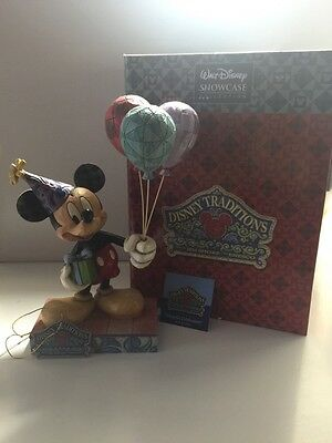"Jim Shore Disney Tradition Mickey Mouse Birthday ""Cheerful Celebration"""