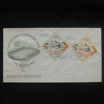 ZS-P366 COLOMBIA - Sports, South American League Athletics 1963 Cover
