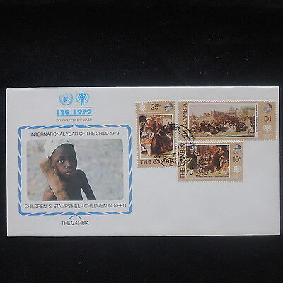 ZS-P402 GAMBIA IND - Iyc, 1979 International Year Of The Child Fdc Cover