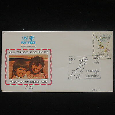ZS-P513 URUGUAY - Iyc, 1979 International Year Of The Child Fdc Cover