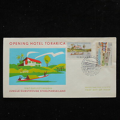 ZS-P904 SURINAME IND - Hotel, Torarica Fdc 1962 Cover