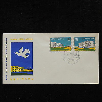 ZS-P906 SURINAME IND - Fdc, Hotel Diakonessenhuis 1962 Cover