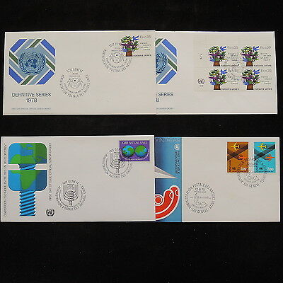 ZS-R232 UNITED NATIONS - Fdc, 1978 Lot Of 4, Great Franking Covers