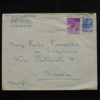 ZS-R469 INDONESIA - Buildings, Religion, 1956 Air Mail To Italy Cover