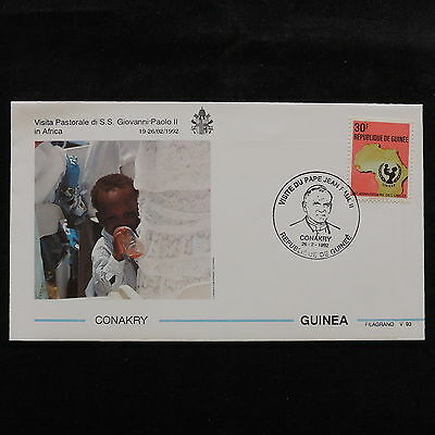 ZS-S051 GUINEA - John Paul II, Visit To Conakry, Africa, 1992 Cover