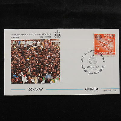 ZS-S053 GUINEA - John Paul II, Visit To Conakry, Africa, 1992 Cover
