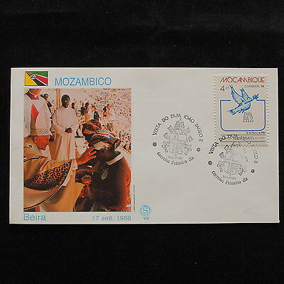 ZS-S069 MOZAMBIQUE IND - John Paul II, Visit To Beira, Fdc, 1988 Cover