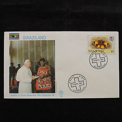 ZS-S072 SWAZILAND IND - John Paul II, Visit To Re Mawati Iii Fdc 1988 Cover