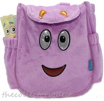 NEW LICENSED MR FACE WITH MAP Purple PLUSH Backpack DORA THE EXPLORER Bag