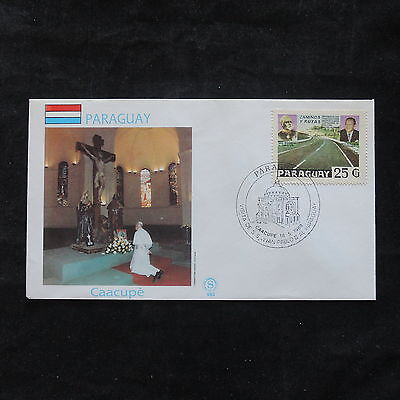 ZS-T335 PARAGUAY - John Paul Ii, 1988 Fdc Visit To Caacupe Cover