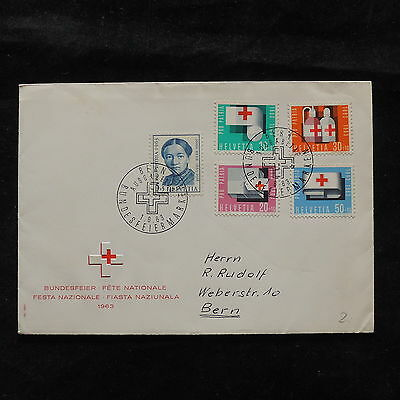 ZS-T565 RED CROSS - Switzerland, Fdc 1963 Cover