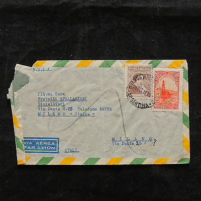 ZS-T824 ARGENTINA - Bsaa, Airmail To Italy Milano 1947 Cover
