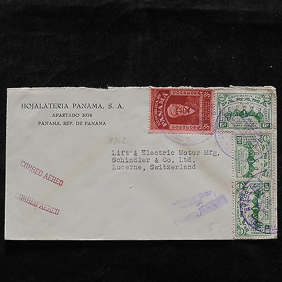 ZS-T893 PANAMA - Cover, To Lucerne Switzerland Airmail 1962