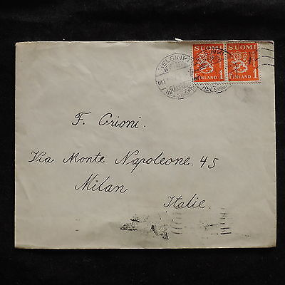 ZS-U213 FINLAND - Cover, Federico Grioni, Stamp Dealer, Airmail To Italy