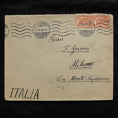 ZS-U214 FINLAND - Cover, Federico Grioni, Stamp Dealer, Airmail To Italy