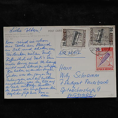 ZS-U238 INDONESIA - Music, 1969, Airmail To Germany Postcard