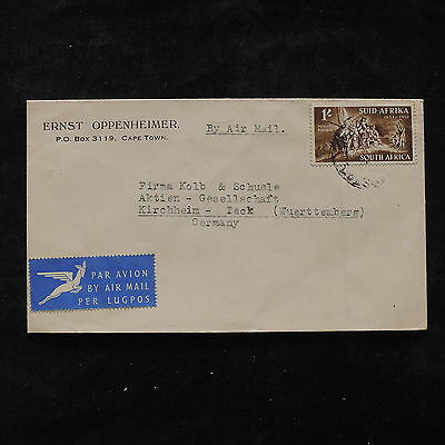 ZS-U442 SOUTH AFRICA IND - Cover, Airmail To Germany