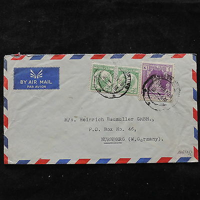 ZS-U459 BURMA IND - Cover, 1958 Airmail To Germany