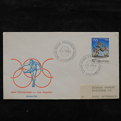 ZS-U493 OLYMPIC GAMES - Luxembourg, 1984 Fdc, Los Angeles, Great Franking Cover