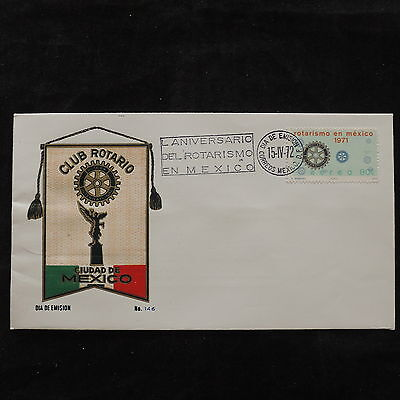 ZS-U558 ROTARY - Mexico, 1972 Fdc, Great Franking Cover