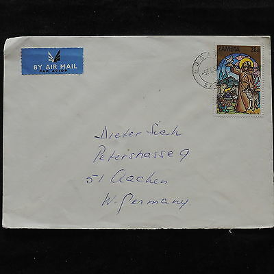 ZS-U634 ZAMBIA - Paintings, Religion, 1988, Airmail To Germany Cover
