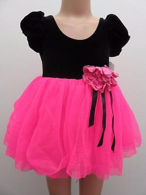 Dance Costume Small Child Hot pink Ballet Tutu Dress-up Solo Competition Pageant