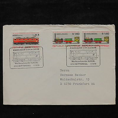 ZS-U958 TRAINS - Austria, 1978 Airmail To Germany, Great Franking Cover