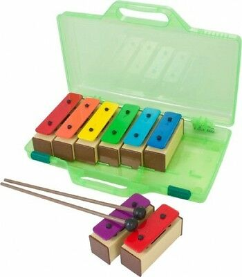Percussion Workshop KB10 - Coloured Chime Bars Set With 2 Beaters And Case (Set