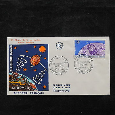 ZS-V193 SPACE - Andorra-French, 1962 Fdc, Great Franking, Andover Cover