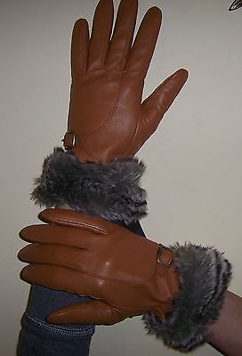 ELLEN TRACY BEAUTIFUL  leather gloves size M