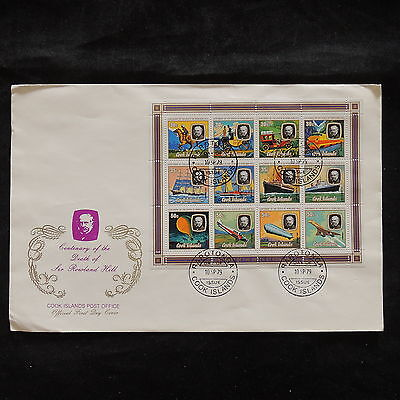 ZS-V372 TRANSPORTATION - Cook Islands Ind, 1979 Fdc, Anniv. Death Rowland Cover