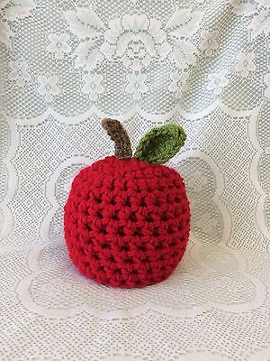 Baby, Photo Prop, Crochet Knit Cute Apple Hat.          Size 0-1month