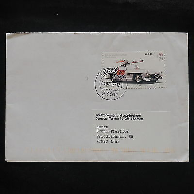 ZS-V800 CARS - Germany, 2012, Great Airmail Cover