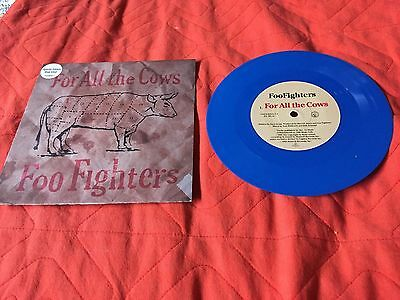 """Foo Fighters For All The Cows 7"""" Blue Vinyl"""
