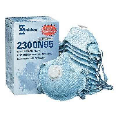 MOLDEX 2300 MASK N95 Particulate Respirator With Exhalation Valve Box of 10ct.